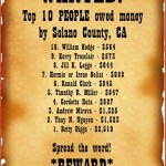 10 Most Wanted residents of Solano County, California for lost money