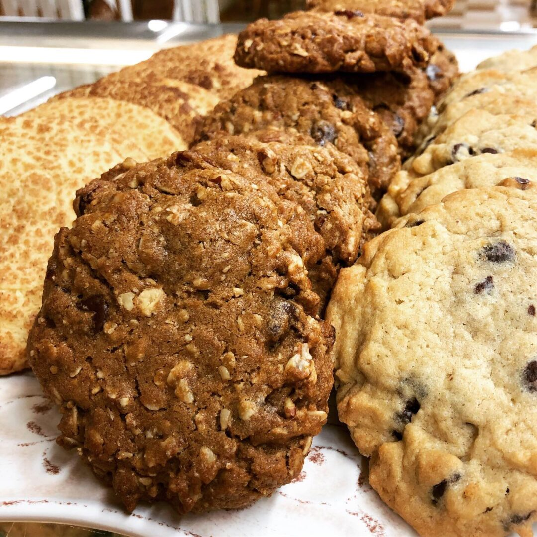 a variety of cookies
