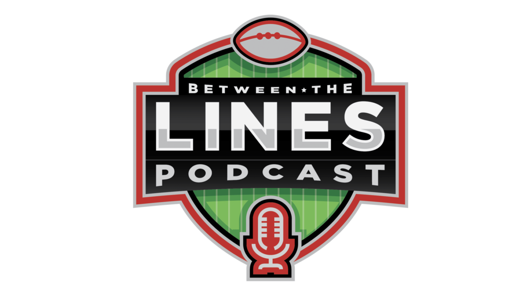 Between the Lines Podcast logo design