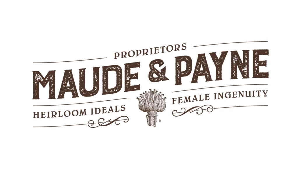 Maude & Payne logo design