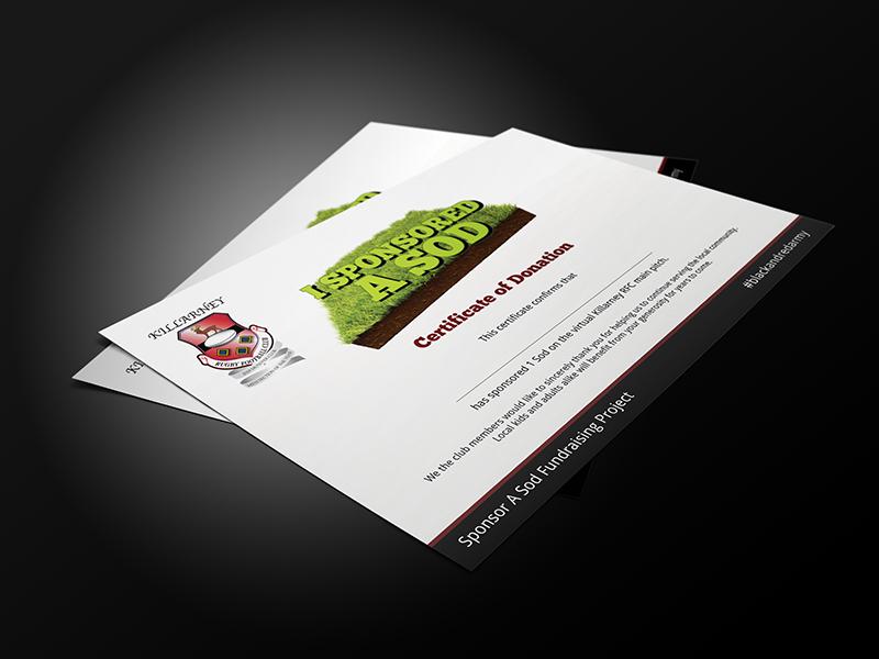 I sponsored a sod certificate from Killarney RFC