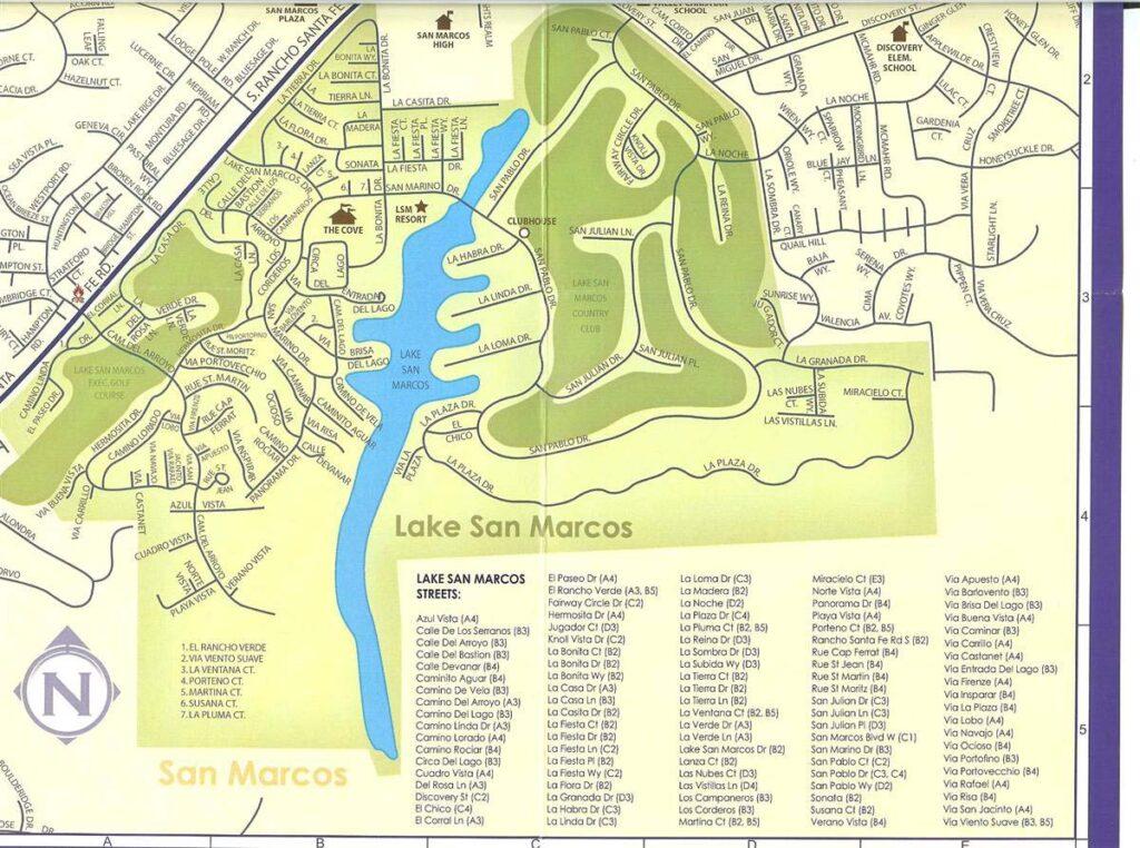 Map of Lake San Marcos