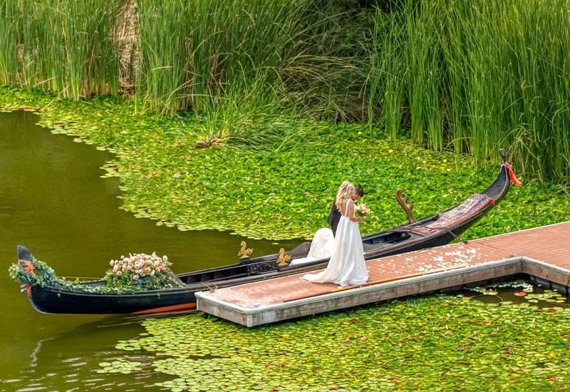 Custom Gondola Wedding by Black Swan Gondola