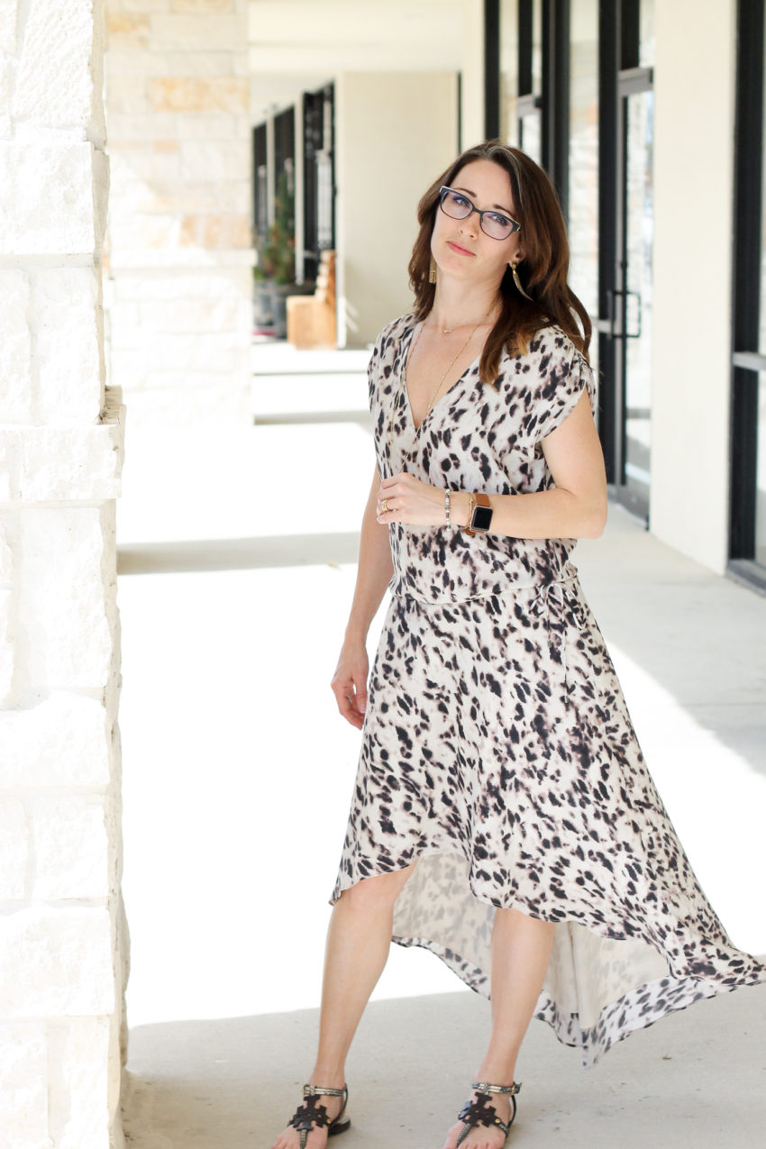 haute hippie, dress, high low skirt, v neck, pattern, my style, method39, wardrobe stylist, personal stylist, coffee, sunglasses, fashion, wear the dress