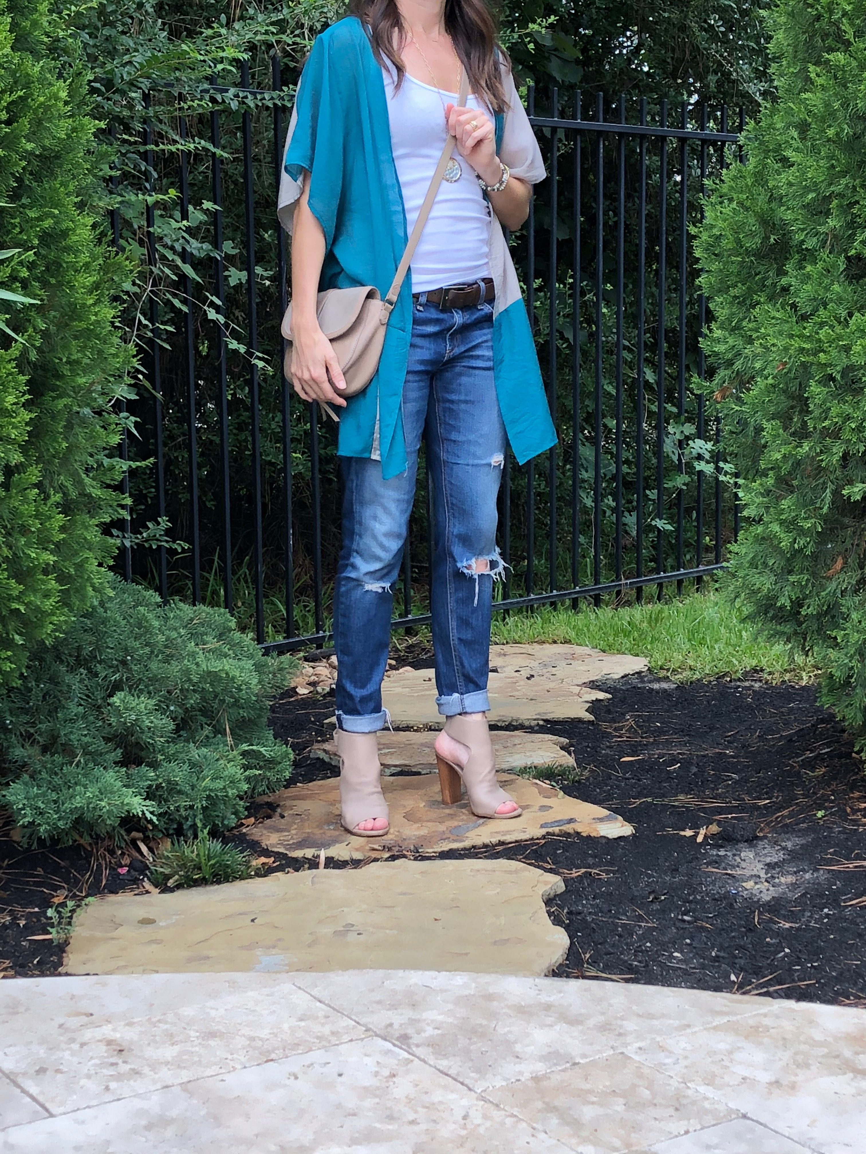 collaboration, kimono, layers, summer, your style, everyday style, method39, girls night, branch boutique, old navy, rag and bone, vince