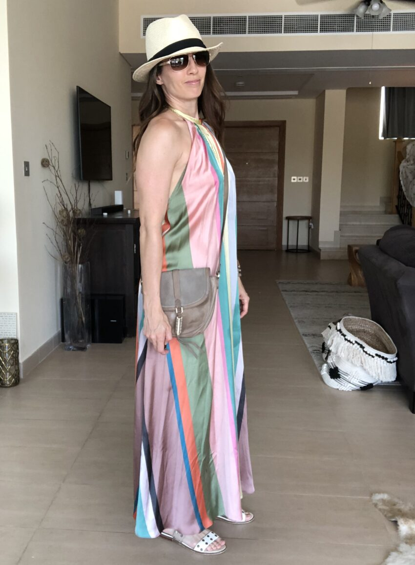 dress, rainbow, summer, backless, method39, versatility, wear it, dress up, casual, everyday style, find your style, style blogger, style adviser, my style, style tips