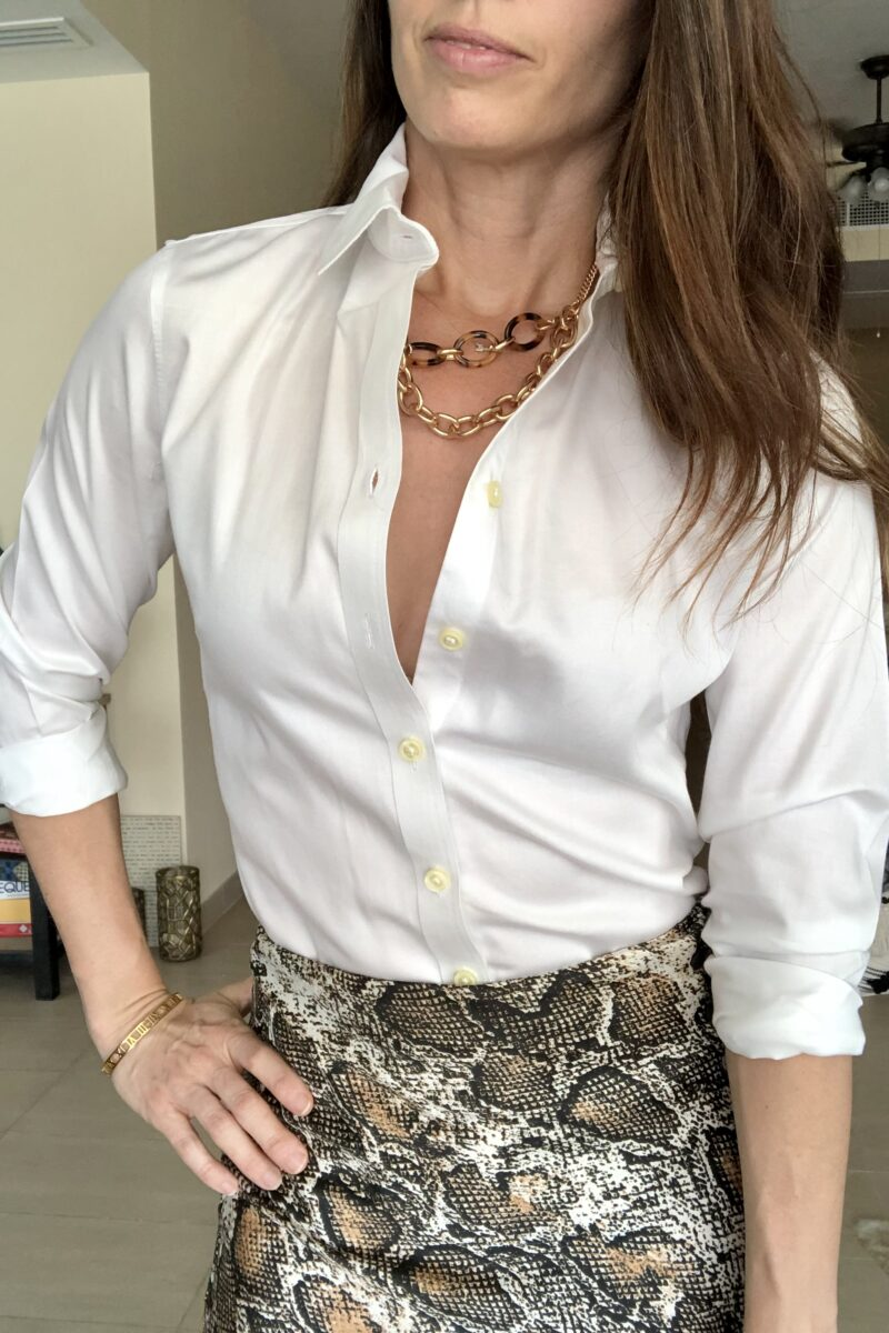 THREE Ways to Style A Faux Snakeskin Skirt Part 1