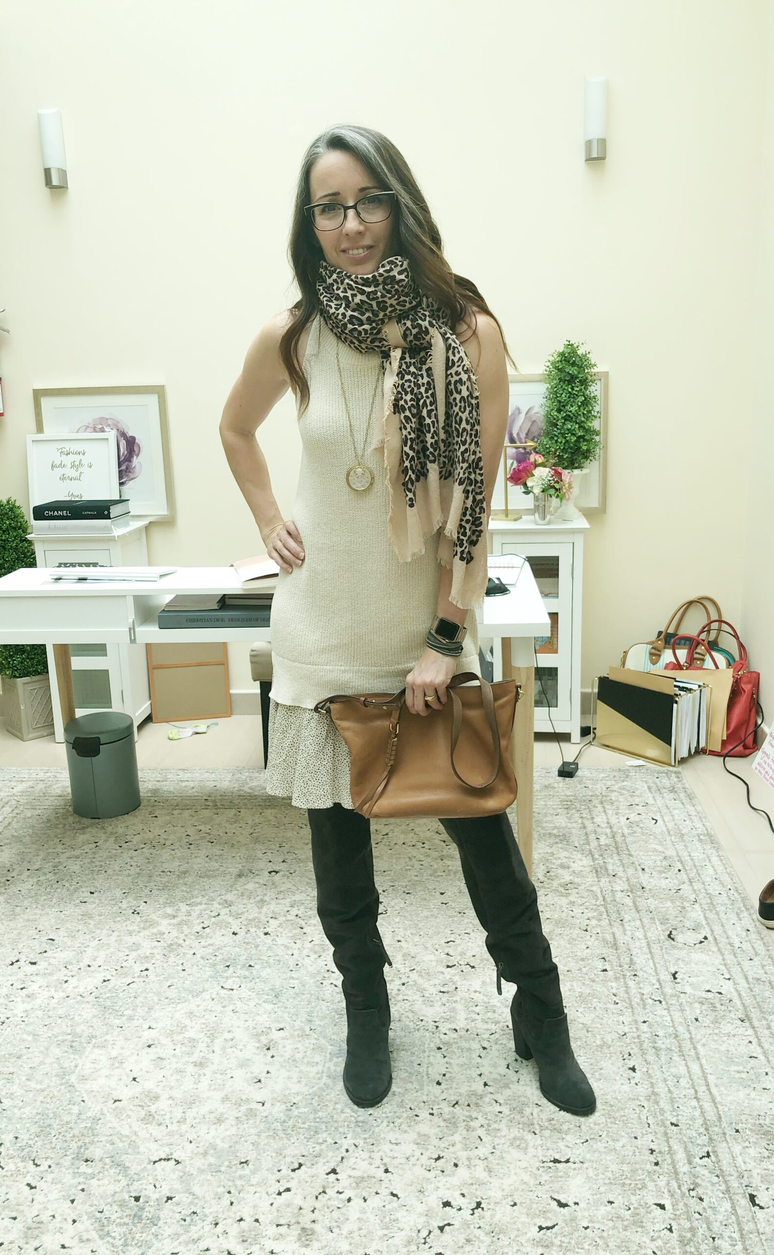 method39, style advice, style advisor, find your style, wardrobe, versatility, finish the look, accessorize, casual, everyday style, dressed up, four ways, bonus style, sweater dress, add personality