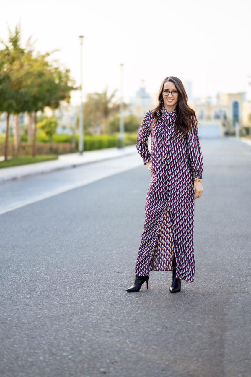 dress, worn three ways, versatility, belt, booties, accessorize, style advice, method39, method to style, style advisor,