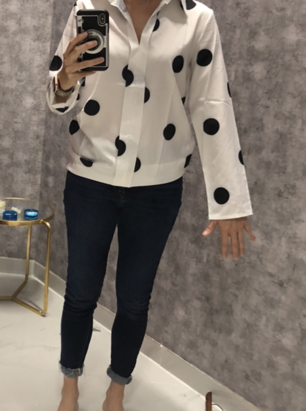 textured sweater, patterned dress, how to style, pattern mixing, texture, polka dots, placement