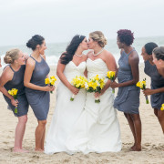 Same sex wedding at a historic bed and breakfast on the beach
