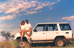Rick and I reunited in Uganda, with our trusty Landcruiser