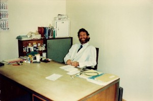 Dr Dick Stockley with a big grin