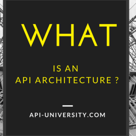 What is API Architecture? –  More than you think.
