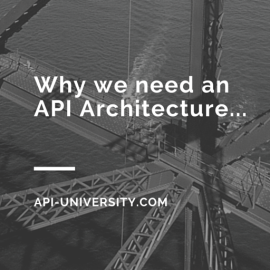 why do we need an API architecture
