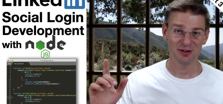 Social Login with LinkedIn API and OAuth – Live Coding – Part 3