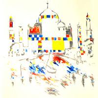 Through Mondrian, Simulate the Real
