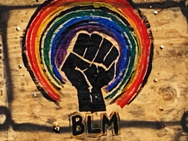 BLM, photo of mural by Tania Sen