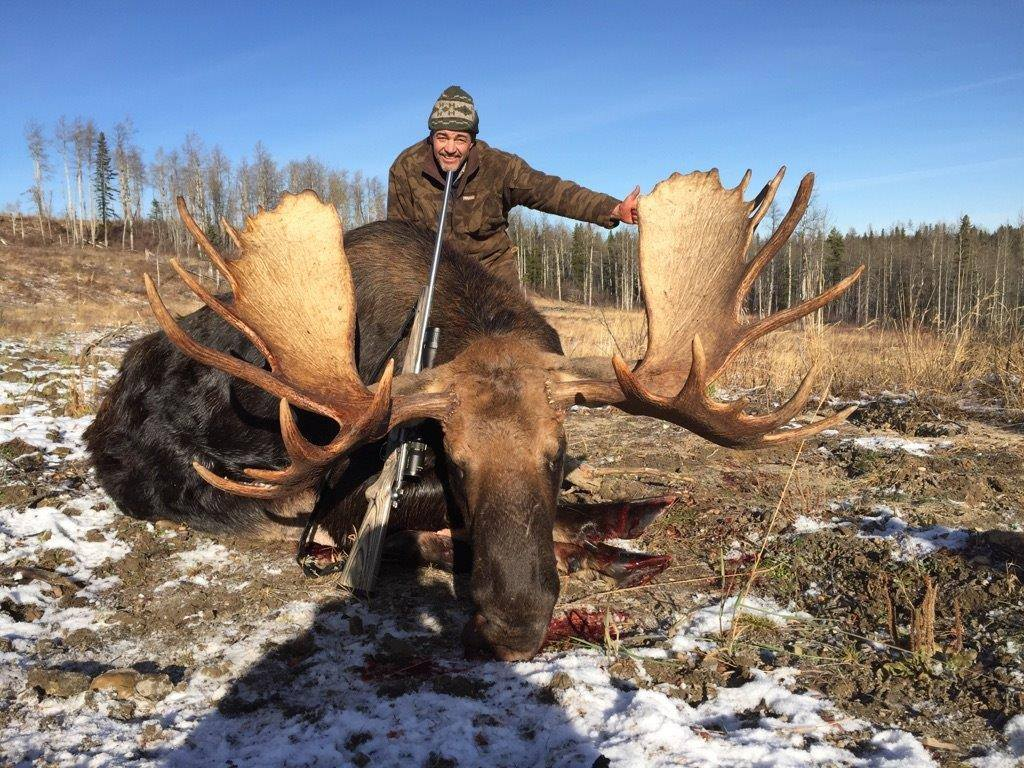 J Skanes Bull Moose with Quigley Ford Scope