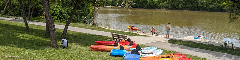 Canoes on the Maumee