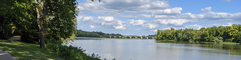 Interurban Bridge from a distance