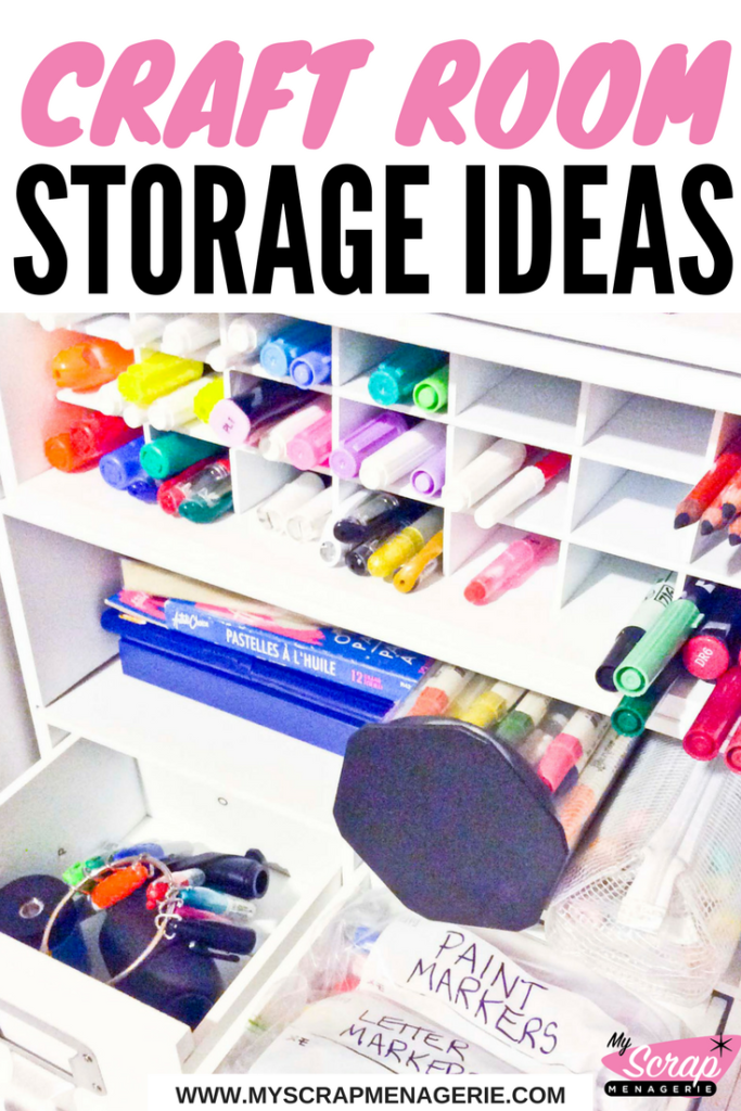 Craft room storage ideas pin