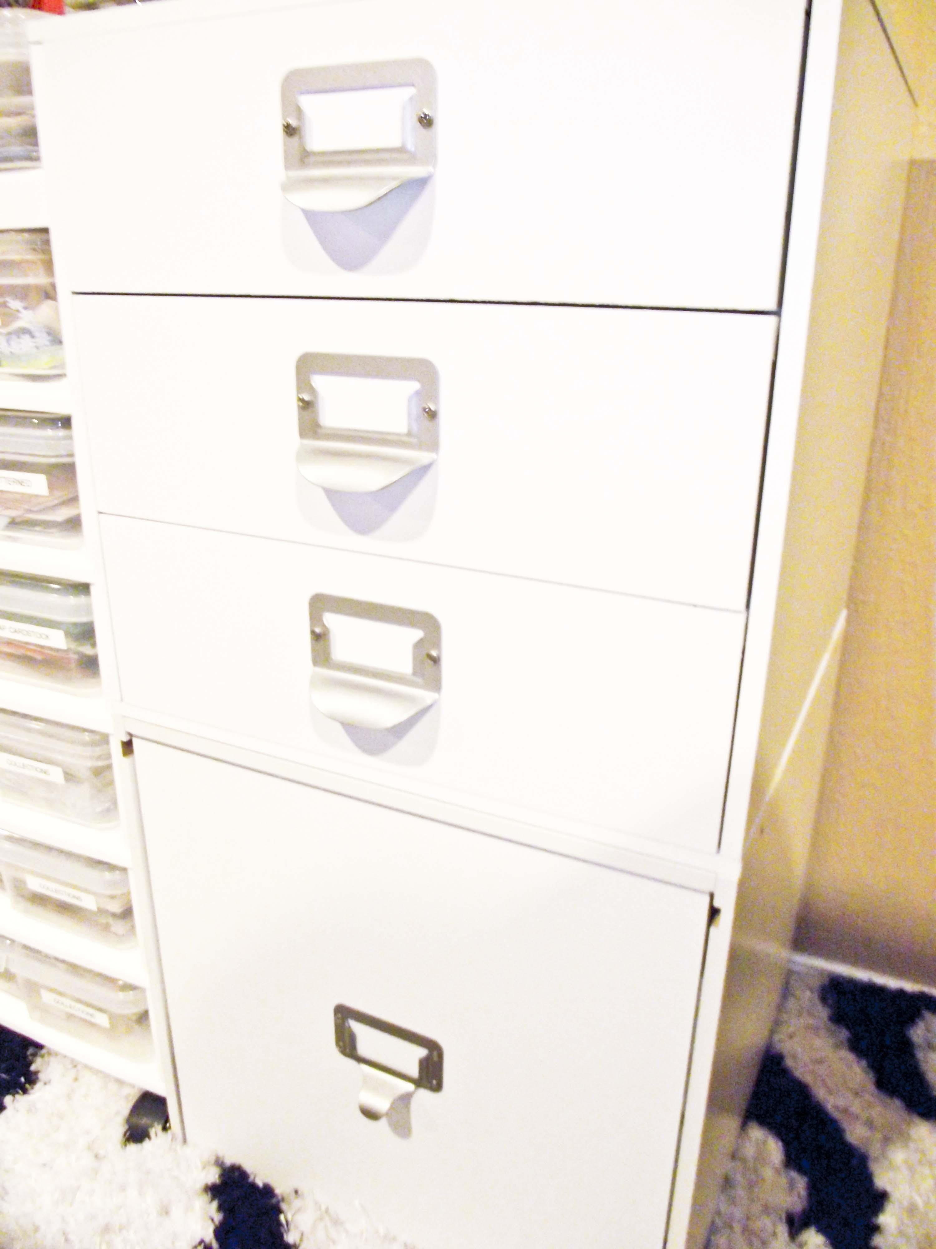 Craft Room drawers and file drawer storage