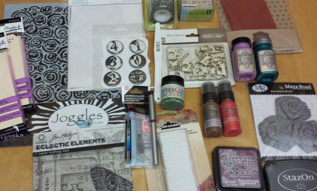 You'll be falling in love with my mixed media contest winnings!