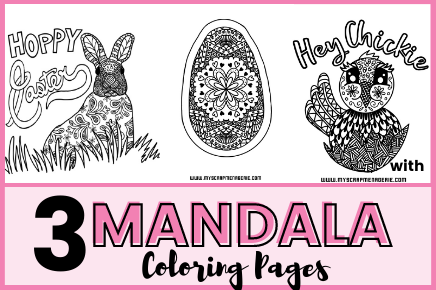 THREE FUN TO COLOR MANDALA COLORING PAGES