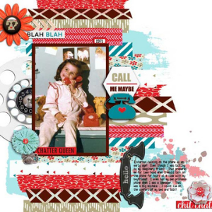 Call me maybe scrapbook layout