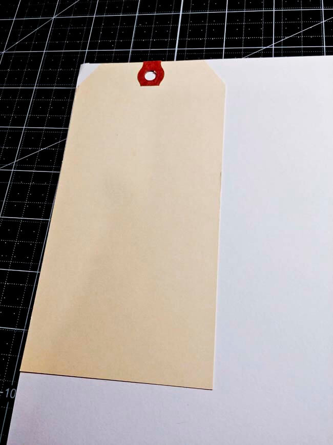 Trace shape of tag on patterned paper