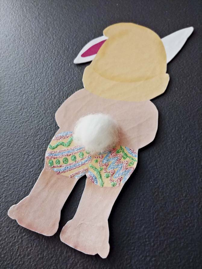 easter naughty gnome cotton tail