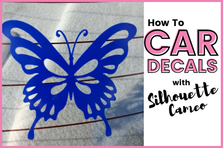 HOW TO CUT, WEED & TRANSFER CAR DECALS WITH SILHOUETTE CAMEO 4