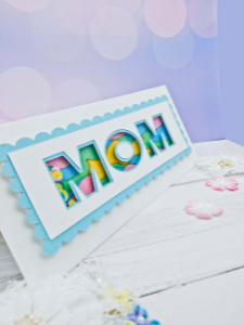 Mother's Day shaker card diagonal