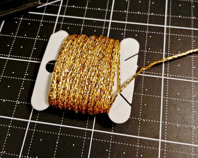 Gold sparkly twine