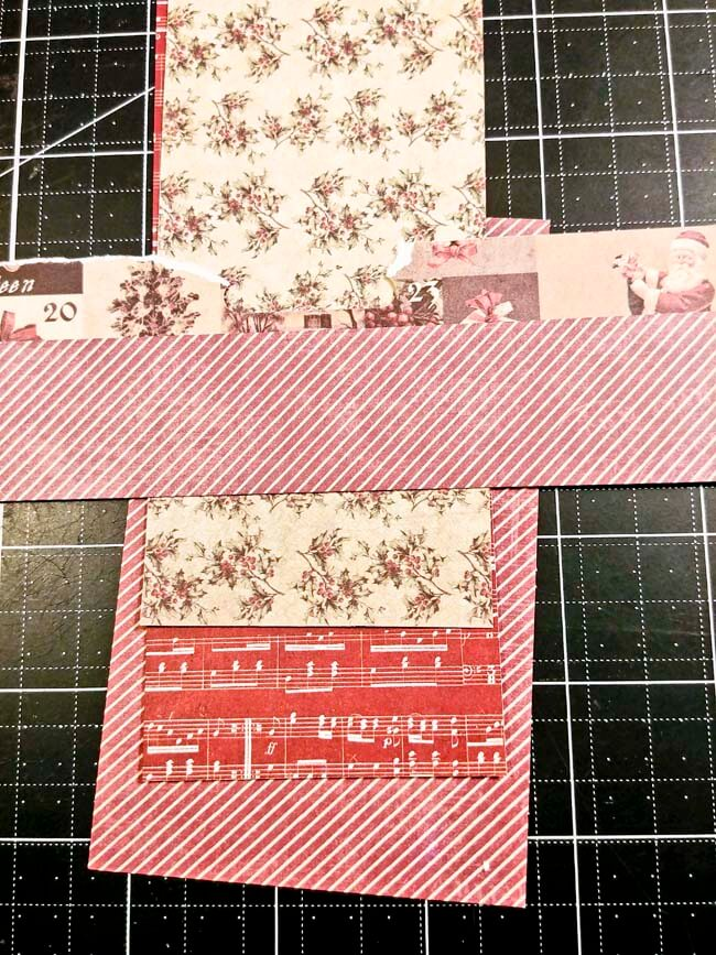 Arrange your patterned papers