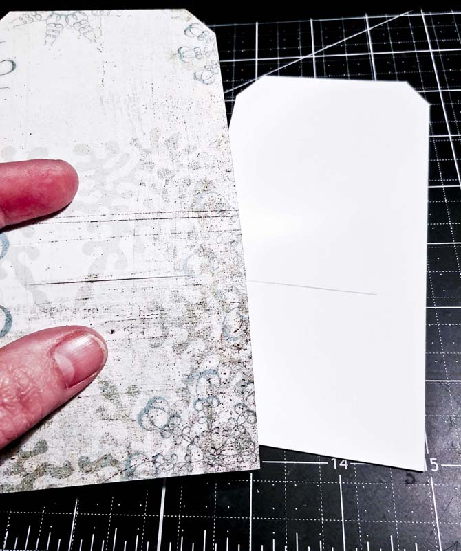 Patterned-paper-and-tag-base