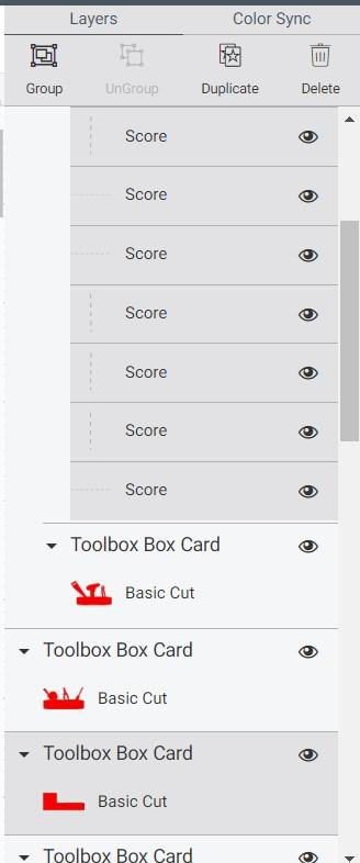 Select rest of score lines to card base