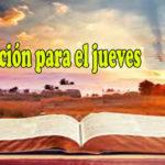 Oración para el jueves 26 de noviembre