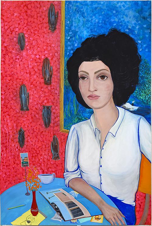 """Ofelia, 2017, gouache on yupo, 60 x 36"""""""