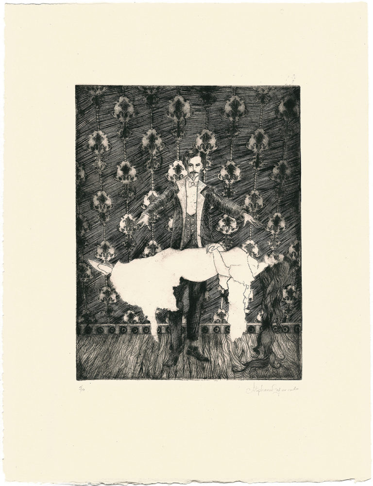 "Stephanie Mercado, The Wandering Eye drypoint Ed. 12 16-1/2 x 12-1/2"""
