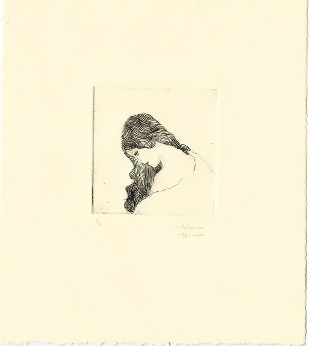 "Stephanie Mercado, Untitled drypoint, Ed.12, 11 x 10"""