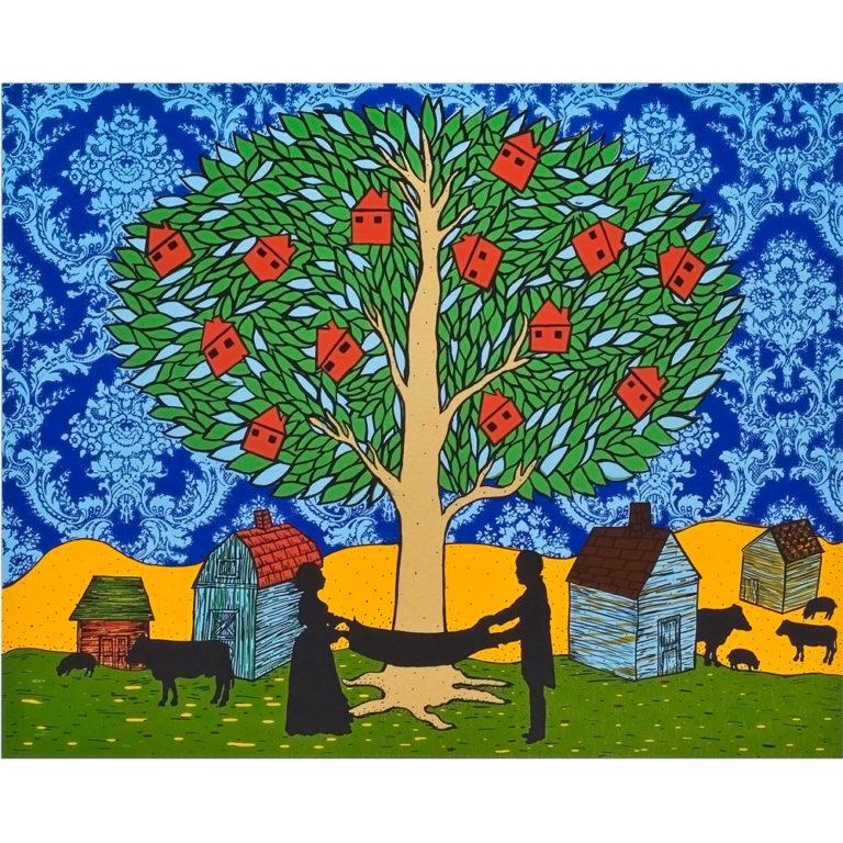"The Golden Tree, 2010, serigraph, Ed 70, 20 x 24"""