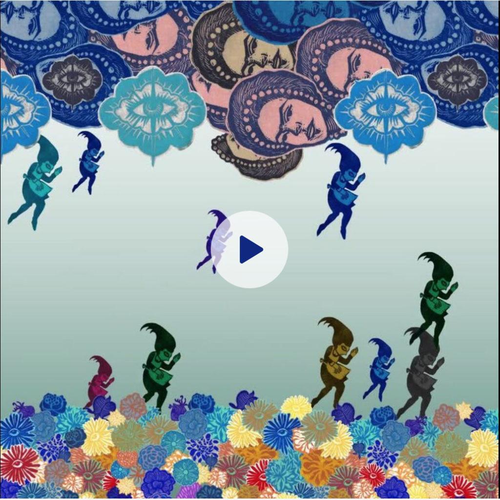 drained video maids raining frida kahlo clouds flower beds paper art