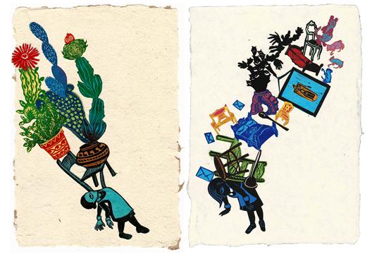 Stephanie Mercado Untitled Relief Print Collage
