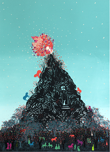 """Untitled, 2013, serigraph, Ed. 50, 30 x 22"""" Serie Project"""