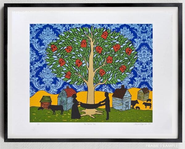 stephanie mercado the golden tree serigraph framed example