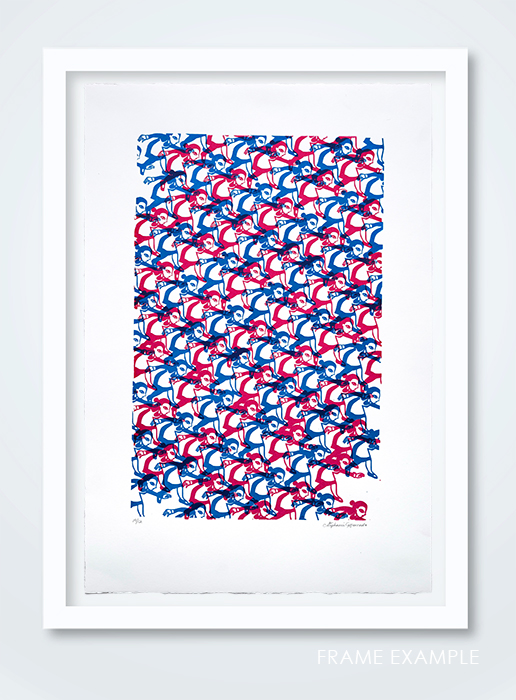 Untitled, 2018, serigraph, 15 x 11 frame example