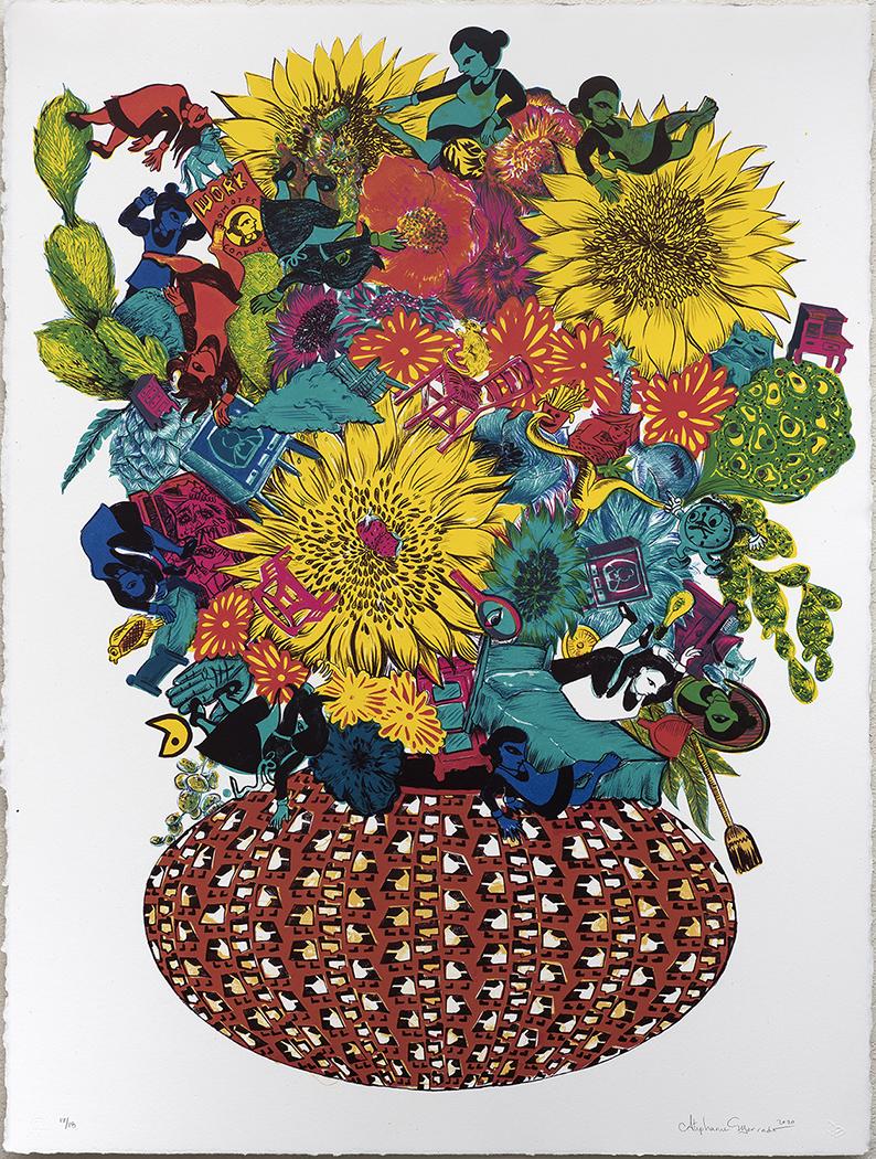 "Flourish (for Maggie), 2020, lithograph, Ed. 18, 30 x 22"""