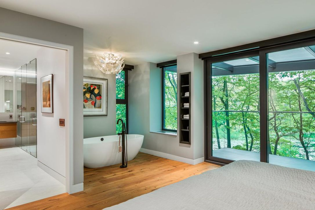 Ravine home with a motorcycle room and a High Park view: Home of the week